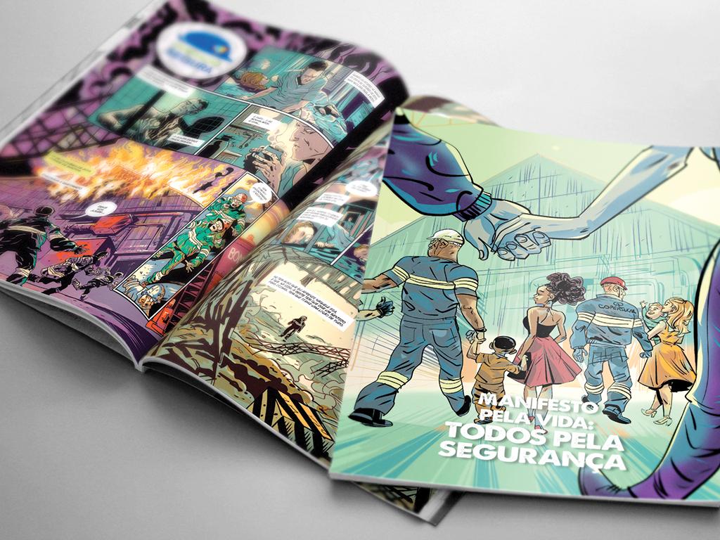 Campanha operação Segura – História em Quadrinhos
